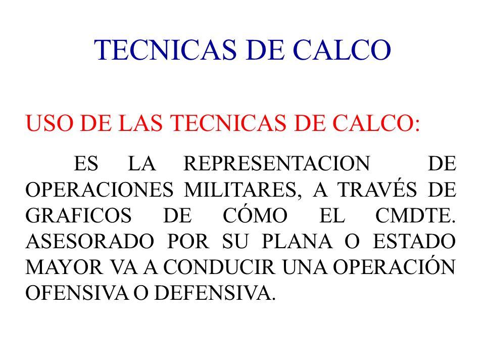 TECNICAS DE CALCO USO DE LAS TECNICAS DE CALCO: