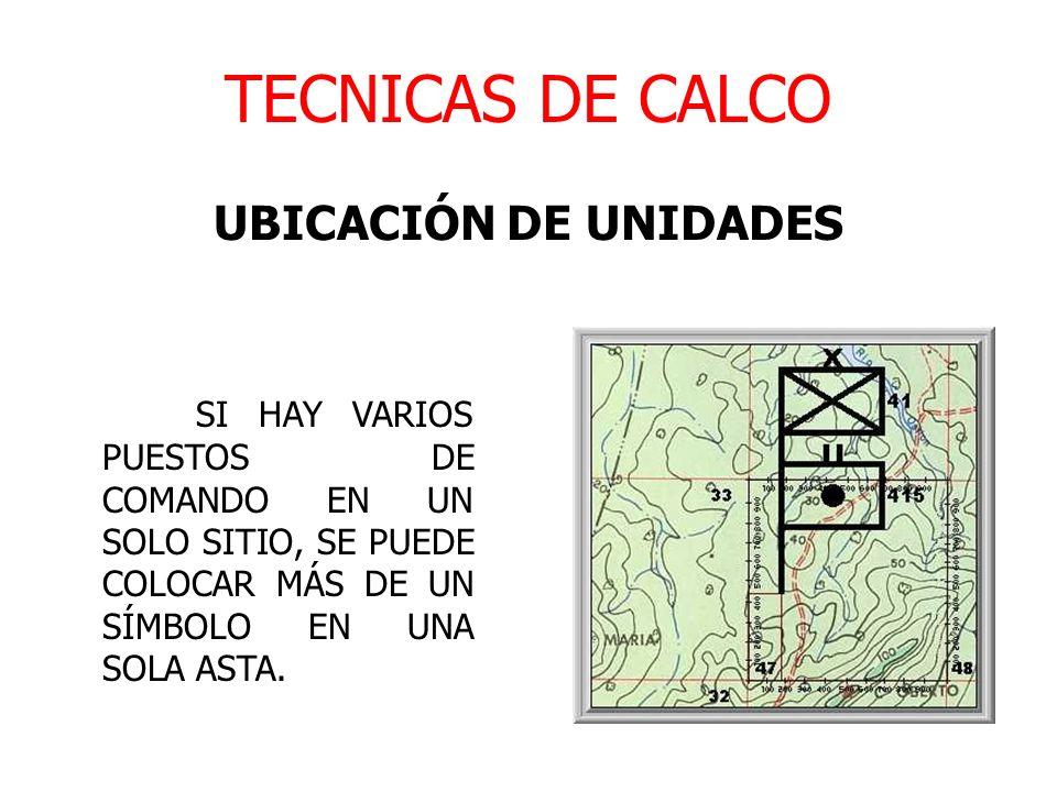 TECNICAS DE CALCO UBICACIÓN DE UNIDADES