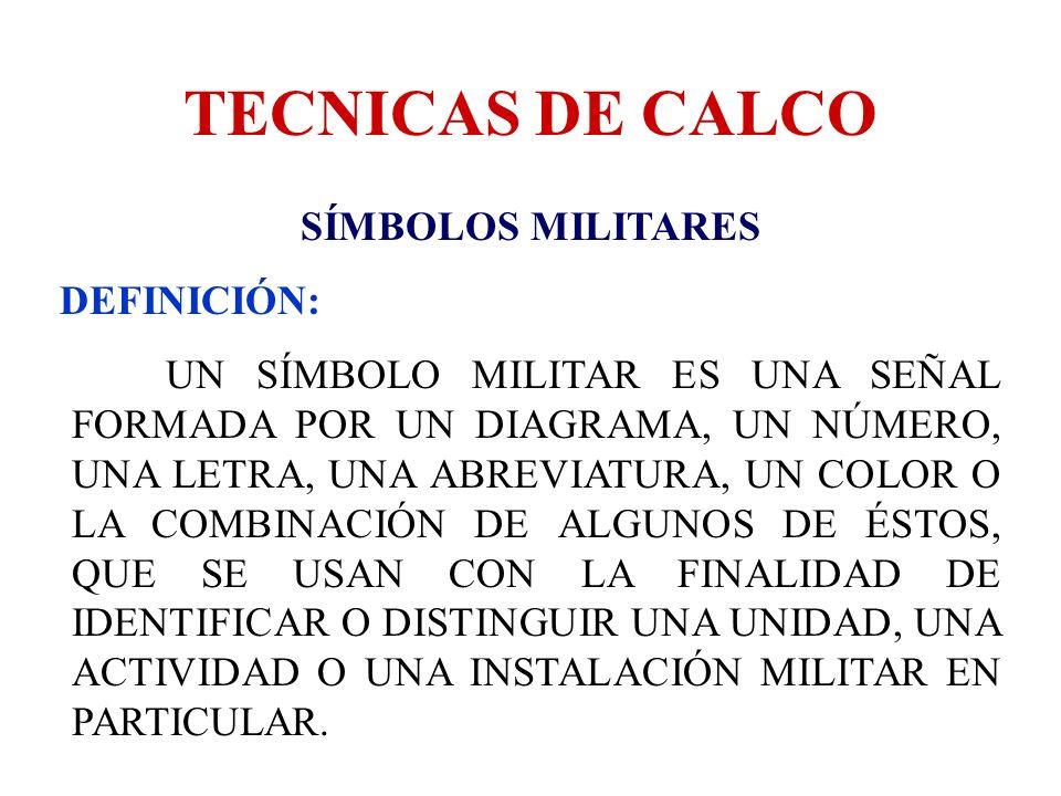 TECNICAS DE CALCO SÍMBOLOS MILITARES DEFINICIÓN: