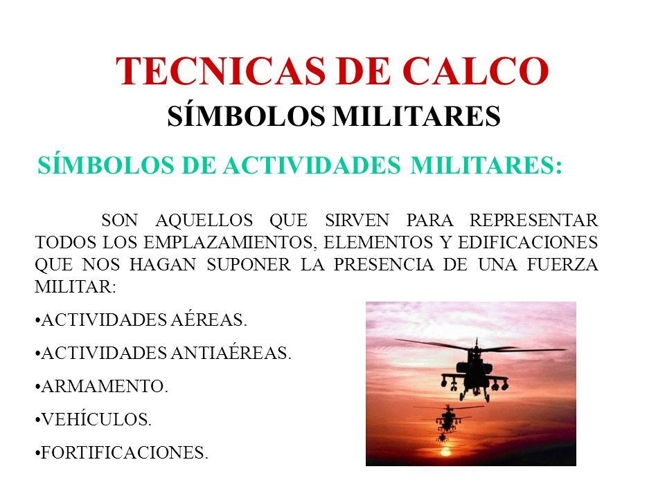TECNICAS DE CALCO SÍMBOLOS MILITARES