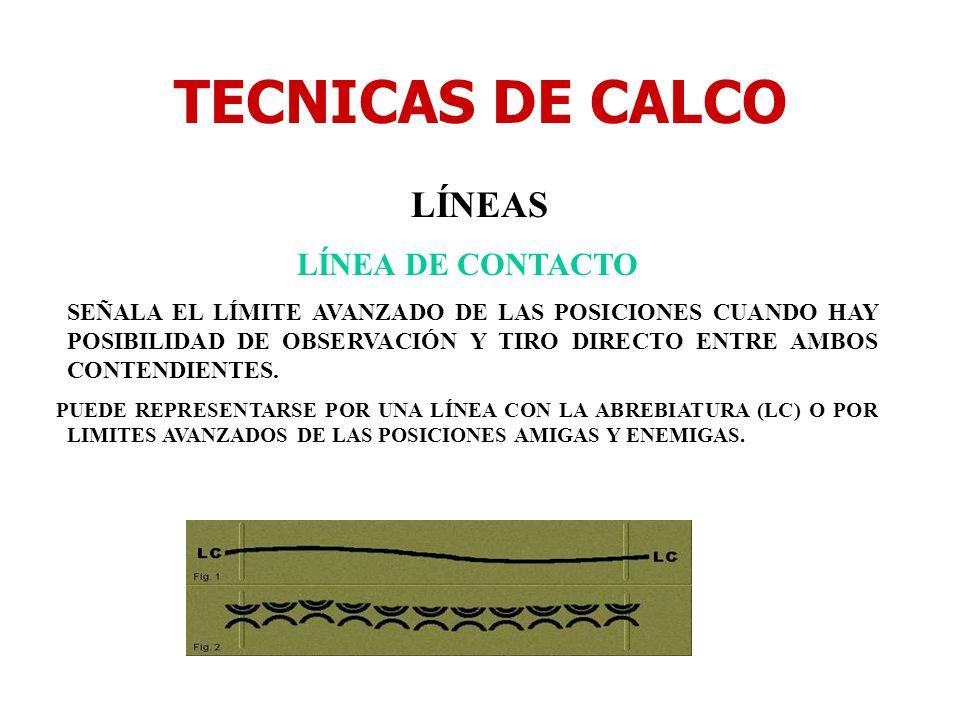 TECNICAS DE CALCO LÍNEAS LÍNEA DE CONTACTO