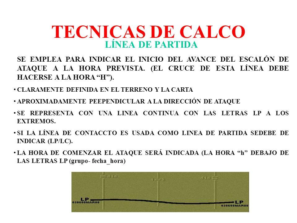 TECNICAS DE CALCO LÍNEA DE PARTIDA