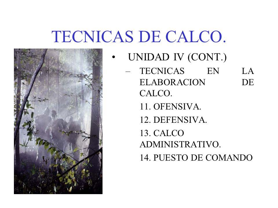 TECNICAS DE CALCO. UNIDAD IV (CONT.)