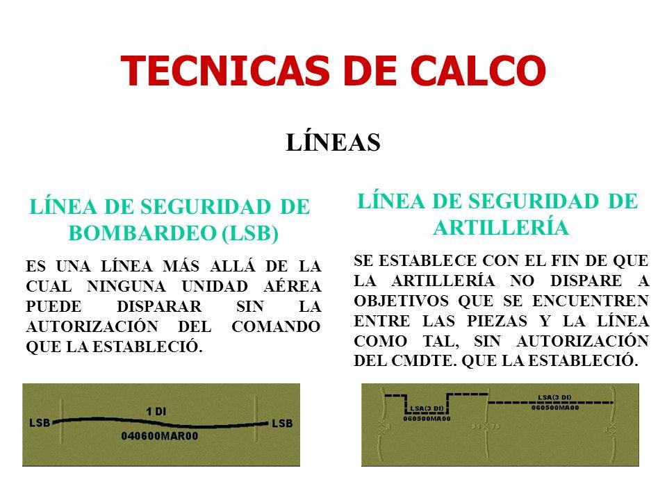 LÍNEA DE SEGURIDAD DE ARTILLERÍA LÍNEA DE SEGURIDAD DE BOMBARDEO (LSB)