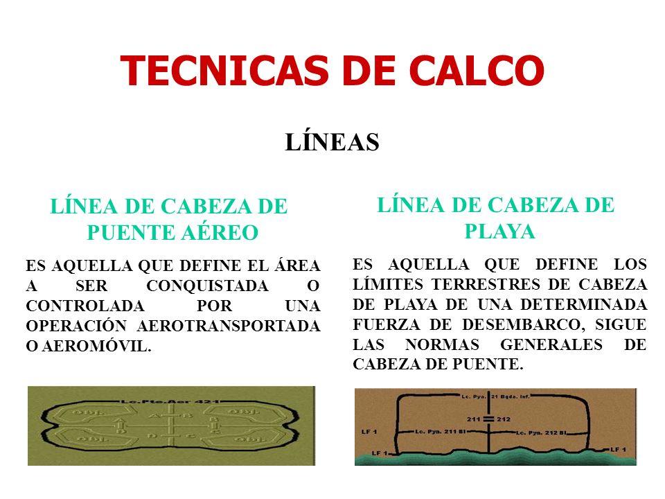 LÍNEA DE CABEZA DE PUENTE AÉREO LÍNEA DE CABEZA DE PLAYA