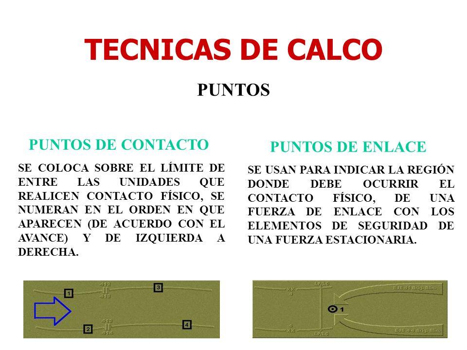 TECNICAS DE CALCO PUNTOS PUNTOS DE CONTACTO PUNTOS DE ENLACE