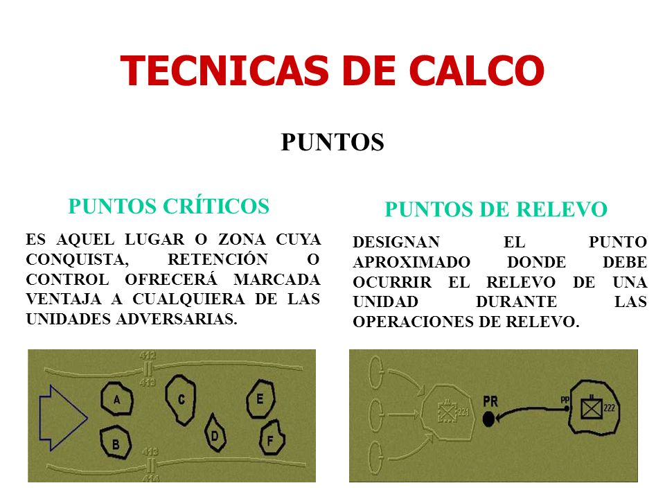 TECNICAS DE CALCO PUNTOS PUNTOS CRÍTICOS PUNTOS DE RELEVO