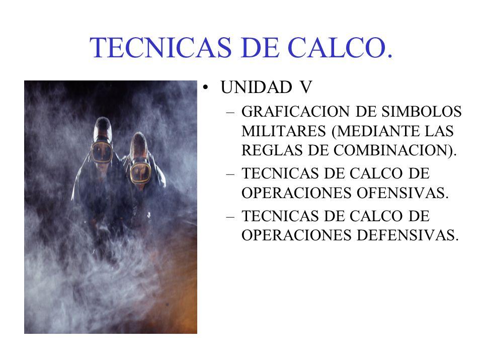 TECNICAS DE CALCO. UNIDAD V
