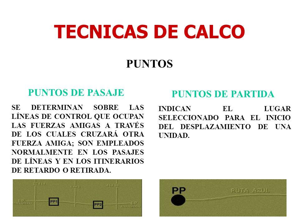 TECNICAS DE CALCO PUNTOS PUNTOS DE PASAJE PUNTOS DE PARTIDA