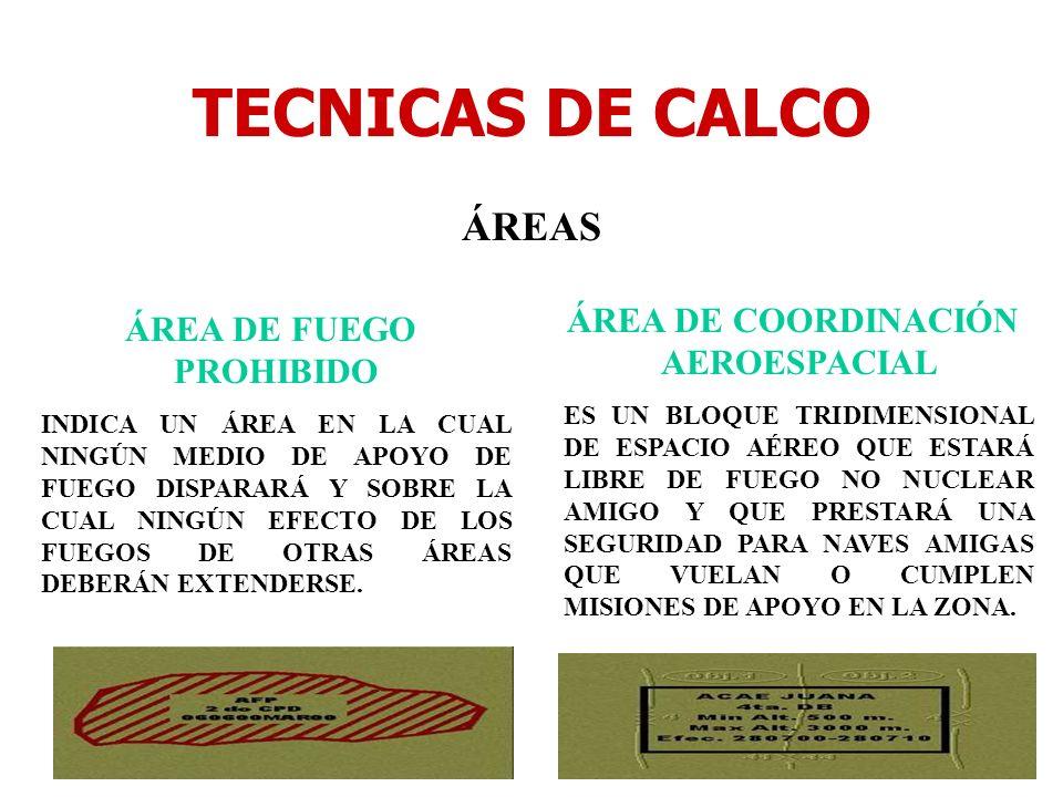 ÁREA DE COORDINACIÓN AEROESPACIAL ÁREA DE FUEGO PROHIBIDO