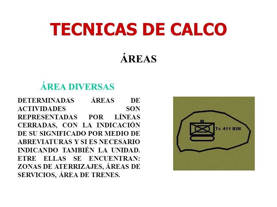 TECNICAS DE CALCO ÁREAS ÁREA DIVERSAS