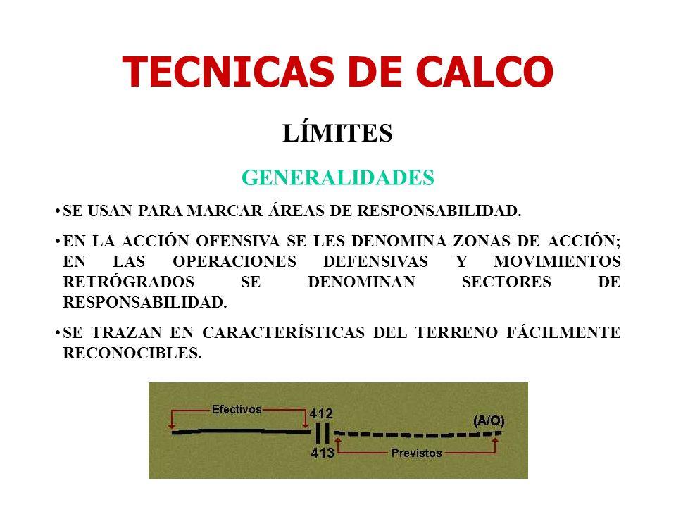 TECNICAS DE CALCO LÍMITES GENERALIDADES