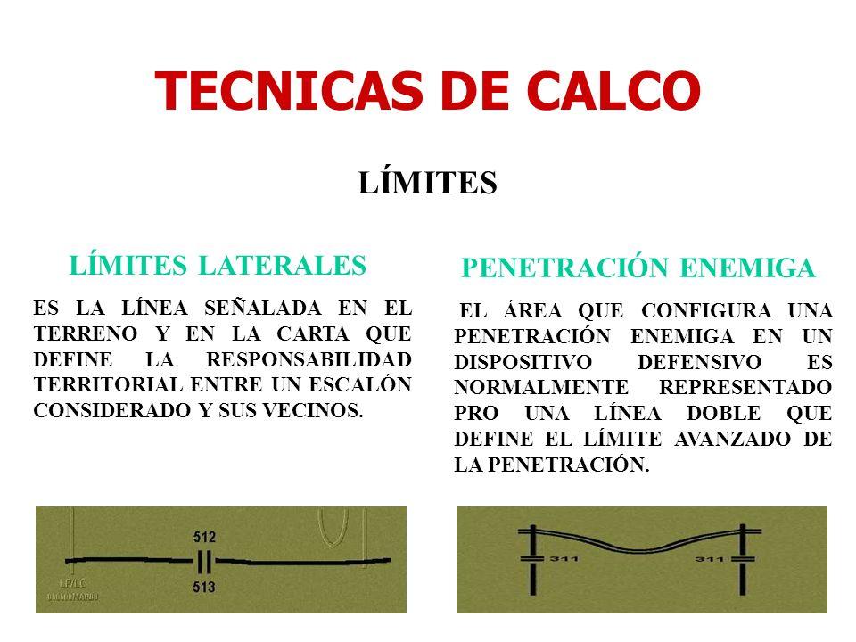 TECNICAS DE CALCO LÍMITES LÍMITES LATERALES PENETRACIÓN ENEMIGA