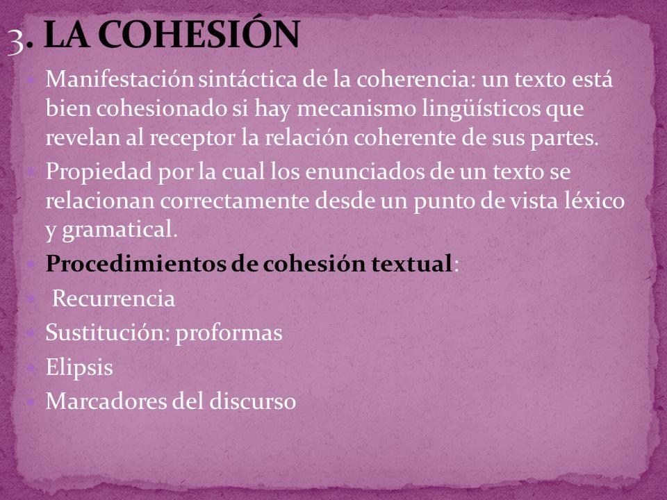 3. LA COHESIÓN