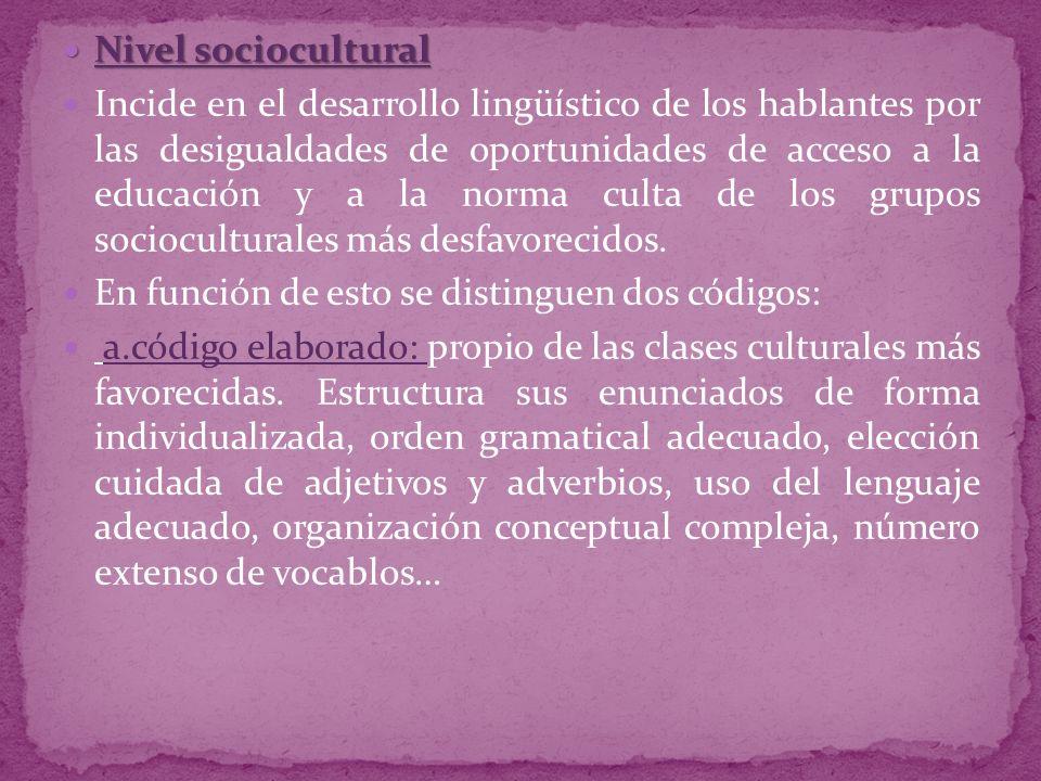 Nivel sociocultural