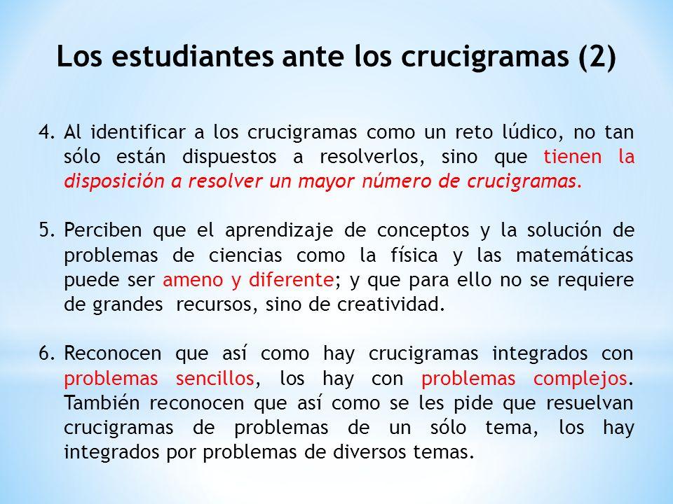 Los estudiantes ante los crucigramas (2)