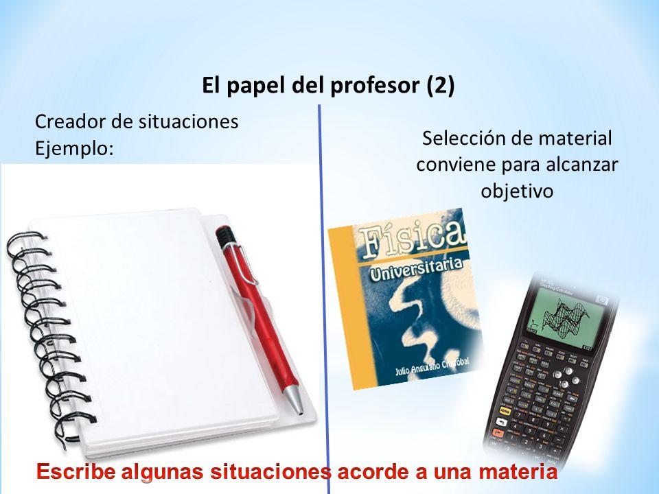 El papel del profesor (2)