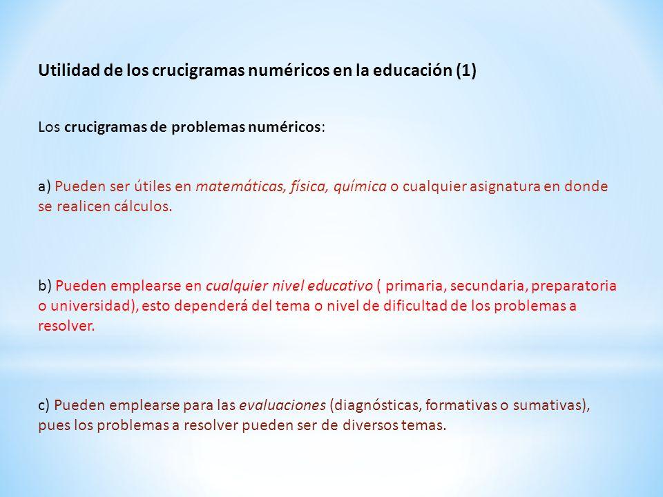Utilidad de los crucigramas numéricos en la educación (1)