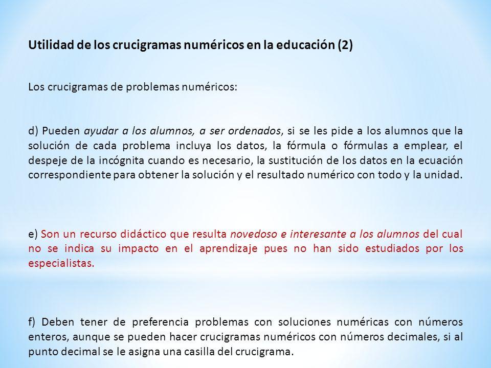 Utilidad de los crucigramas numéricos en la educación (2)