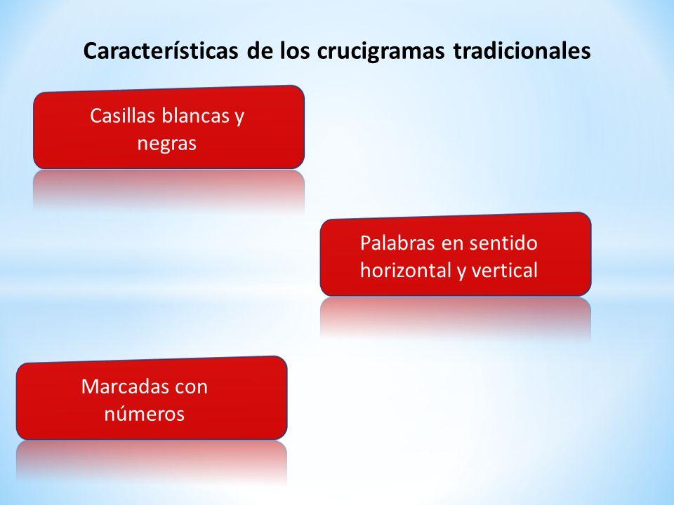 Características de los crucigramas tradicionales