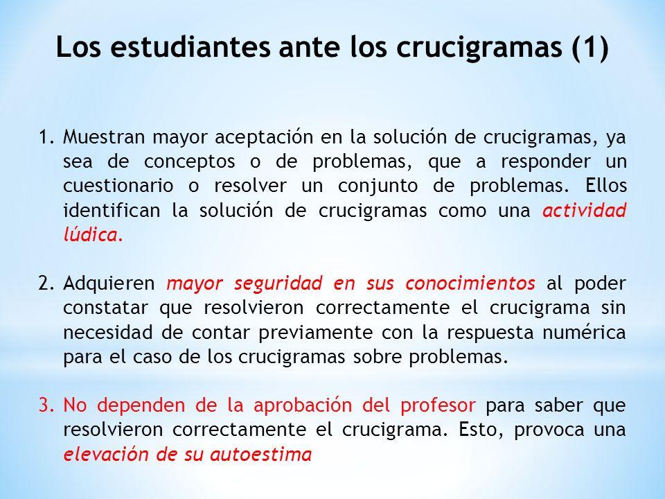 Los estudiantes ante los crucigramas (1)