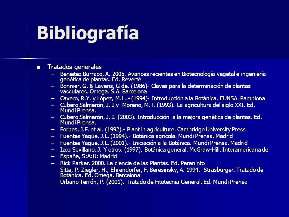 Bibliografía Tratados generales