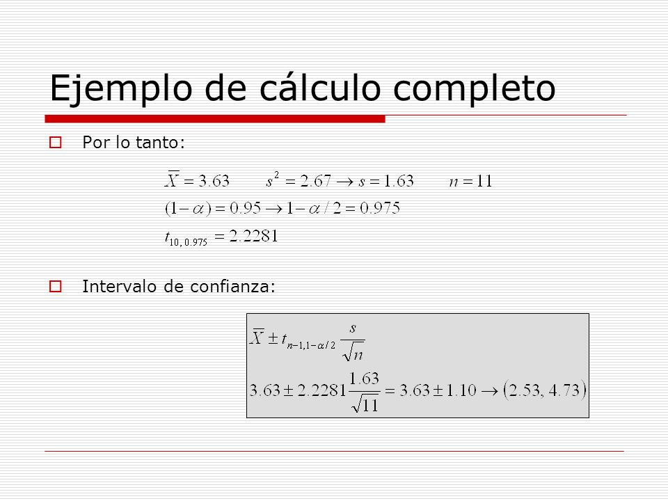 Ejemplo de cálculo completo