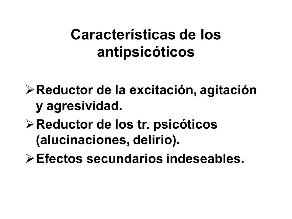 Características de los antipsicóticos