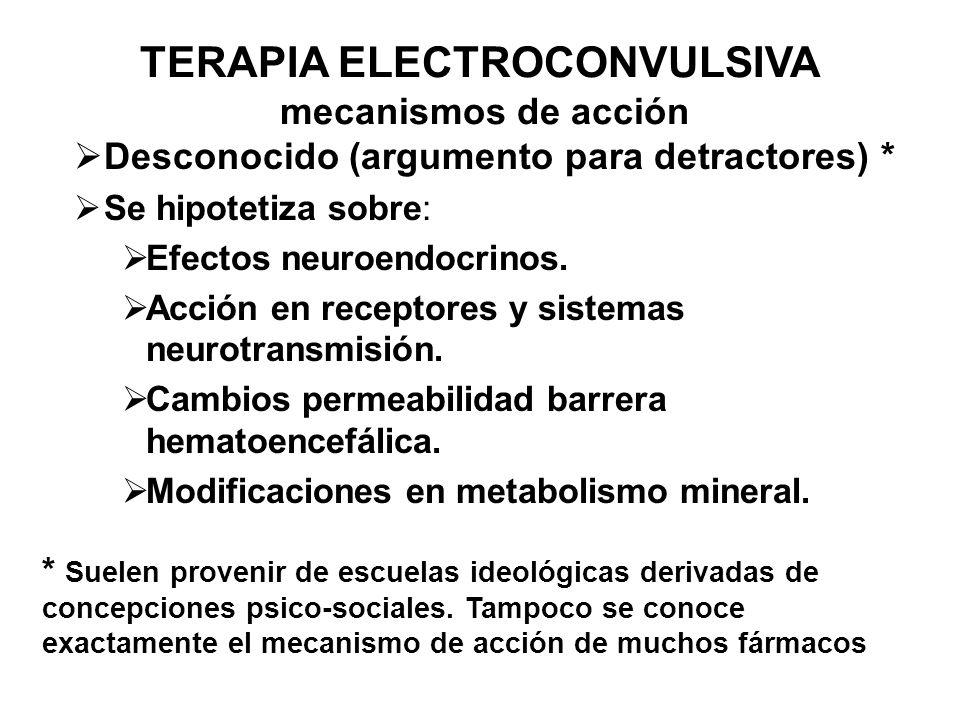 TERAPIA ELECTROCONVULSIVA mecanismos de acción