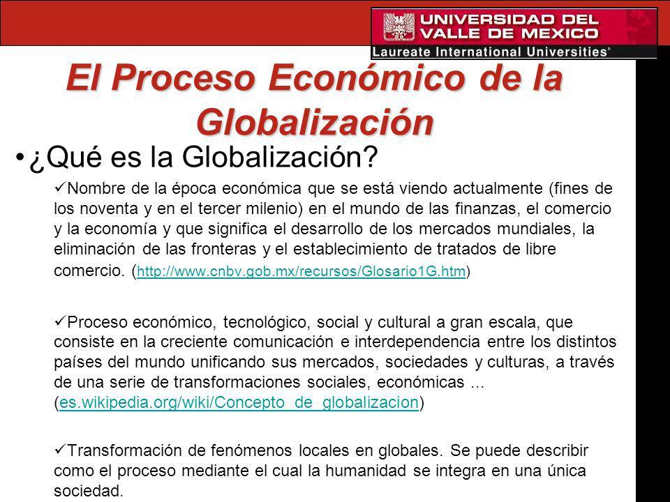 El Proceso Económico de la Globalización