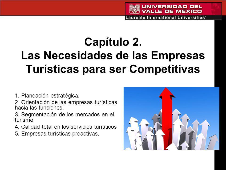 Capítulo 2. Las Necesidades de las Empresas Turísticas para ser Competitivas