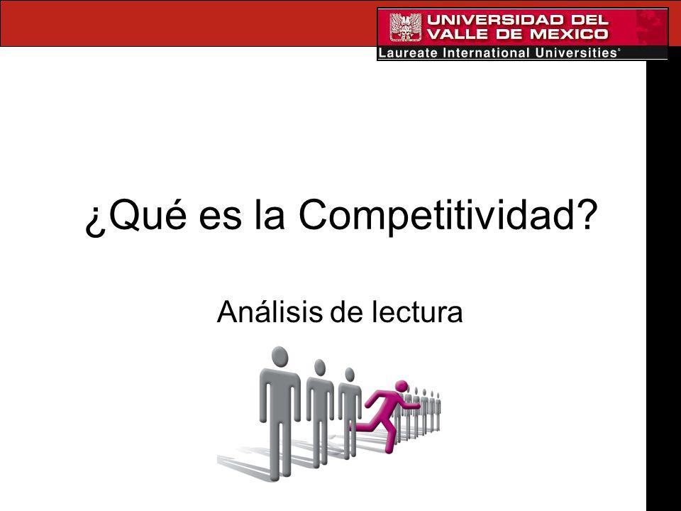 ¿Qué es la Competitividad