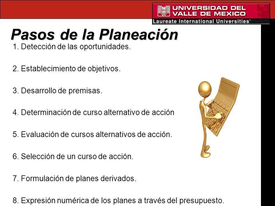 Pasos de la Planeación 1. Detección de las oportunidades.