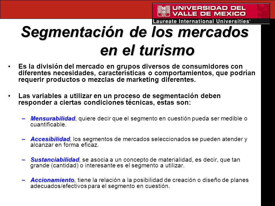 Segmentación de los mercados en el turismo
