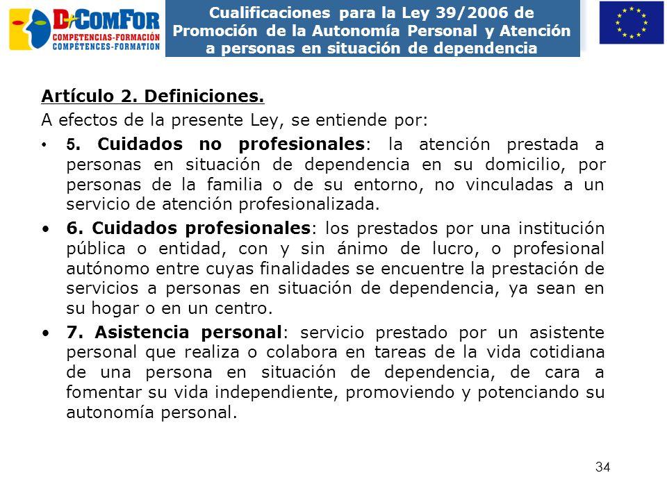 Artículo 2. Definiciones.