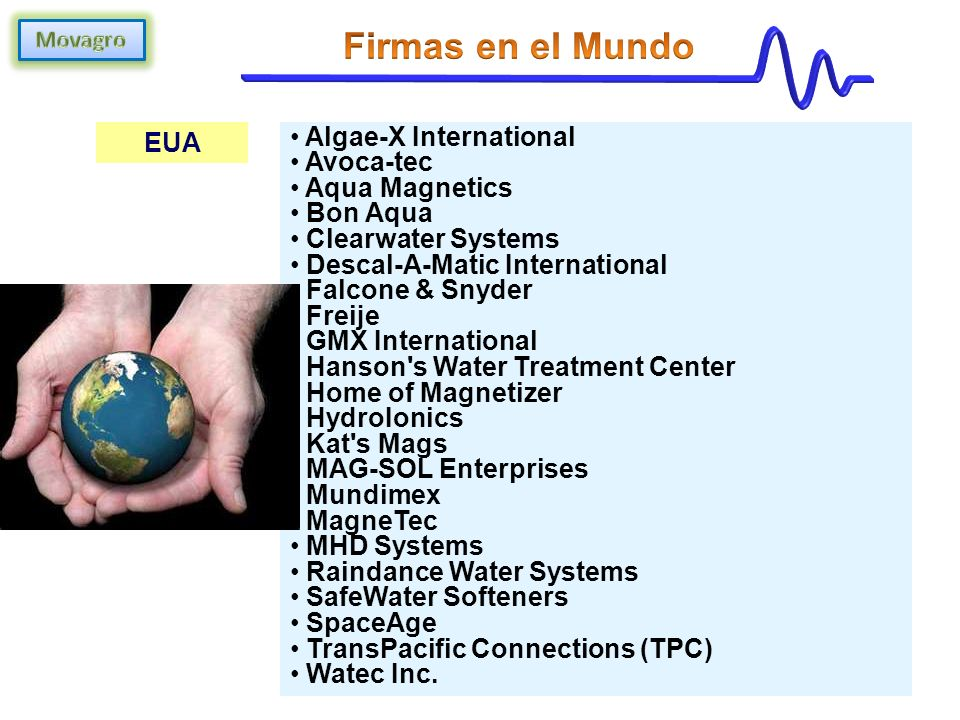 Firmas en el Mundo EUA Algae-X International Avoca-tec Aqua Magnetics
