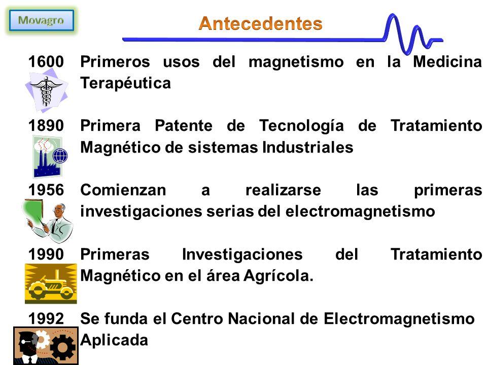 Antecedentes Primeros usos del magnetismo en la Medicina Terapéutica