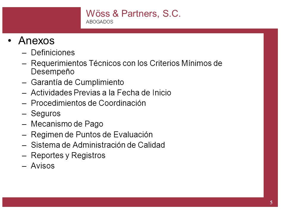 Anexos Definiciones. Requerimientos Técnicos con los Criterios Mínimos de Desempeño. Garantía de Cumplimiento.