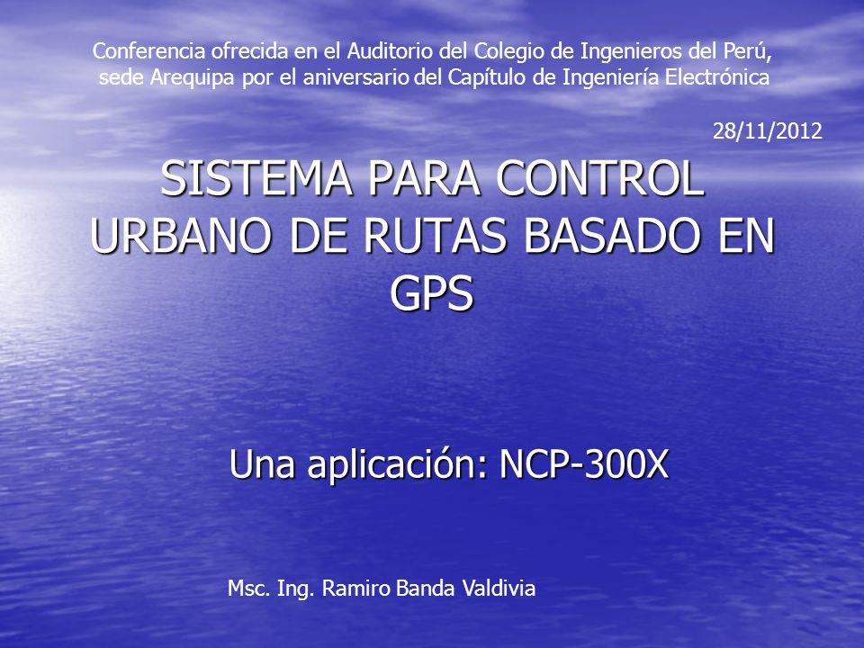 SISTEMA PARA CONTROL URBANO DE RUTAS BASADO EN GPS