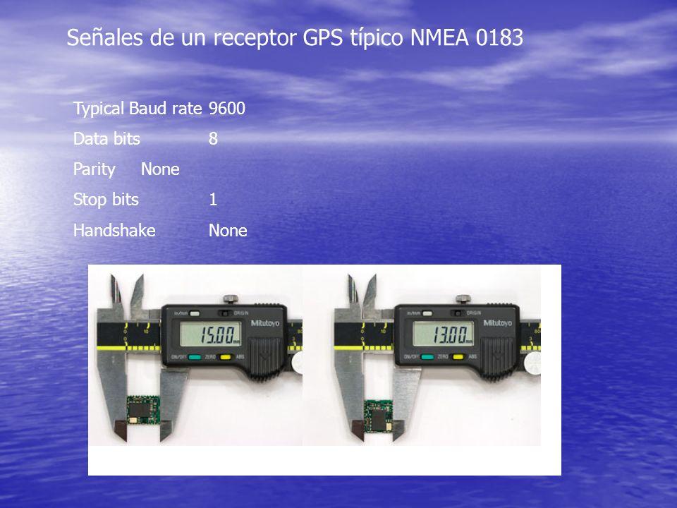 Señales de un receptor GPS típico NMEA 0183