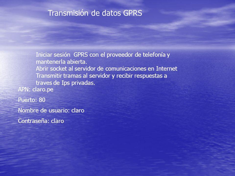 Transmisión de datos GPRS