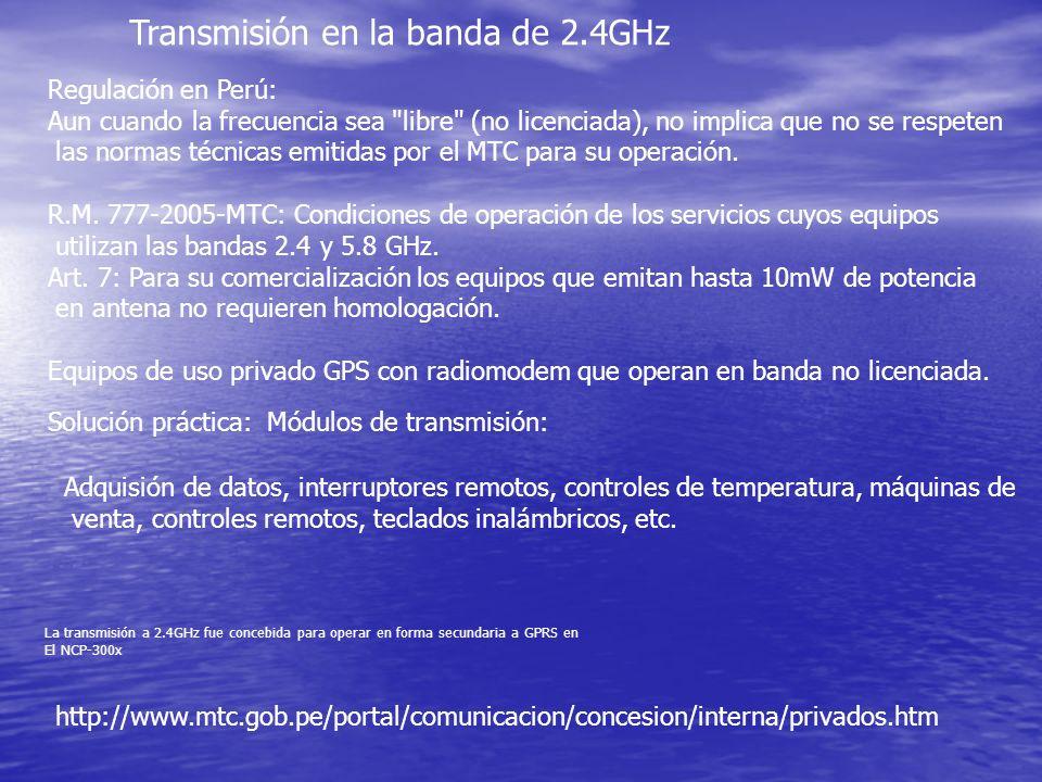 Transmisión en la banda de 2.4GHz