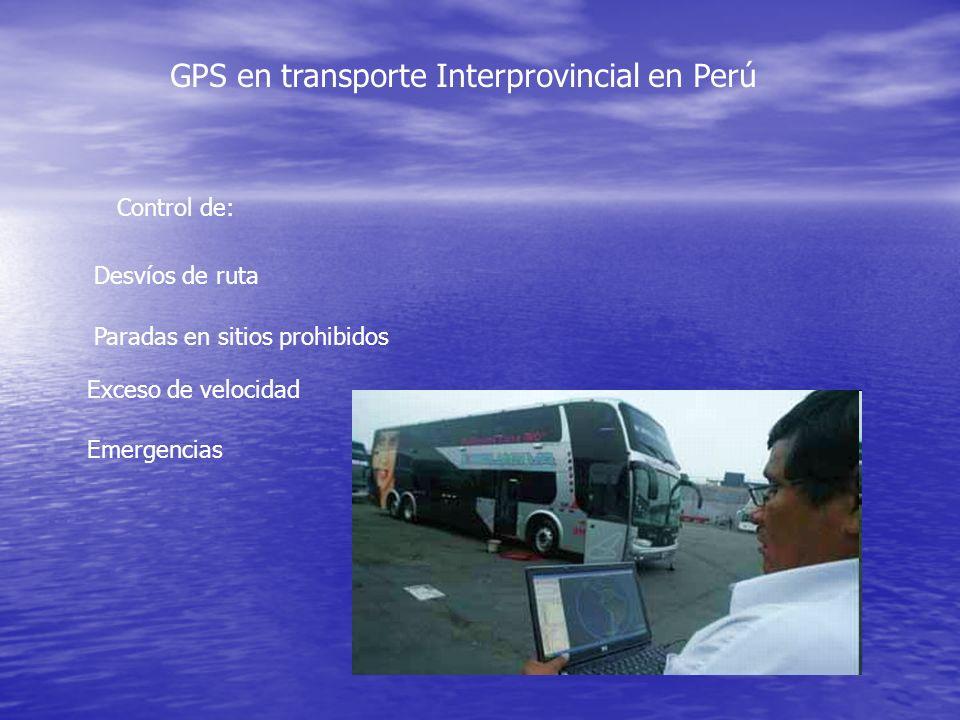 GPS en transporte Interprovincial en Perú