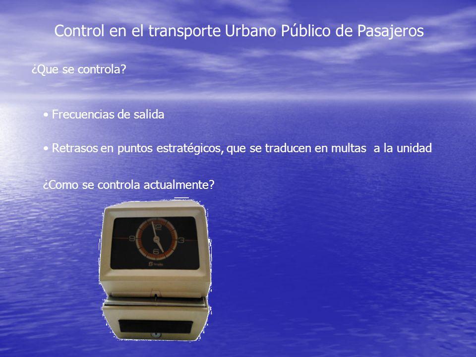 Control en el transporte Urbano Público de Pasajeros