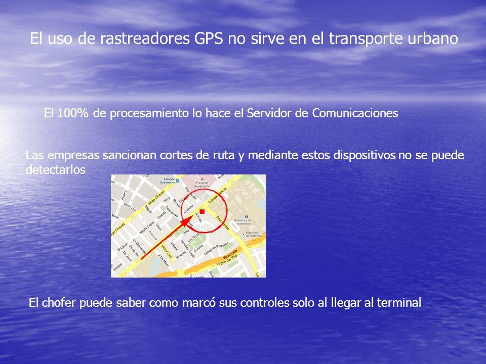 El uso de rastreadores GPS no sirve en el transporte urbano