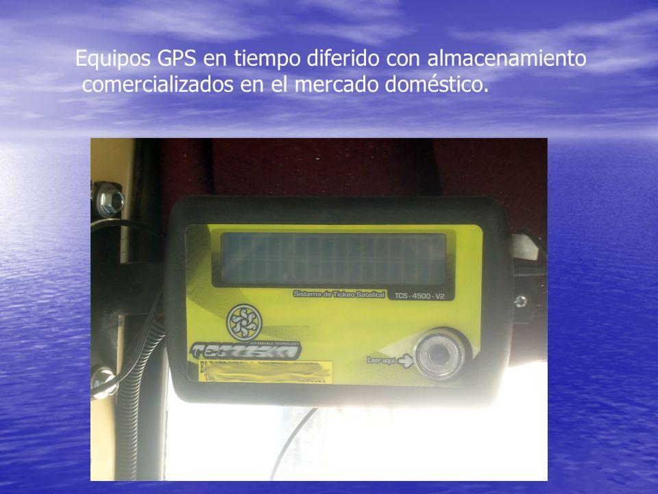 Equipos GPS en tiempo diferido con almacenamiento