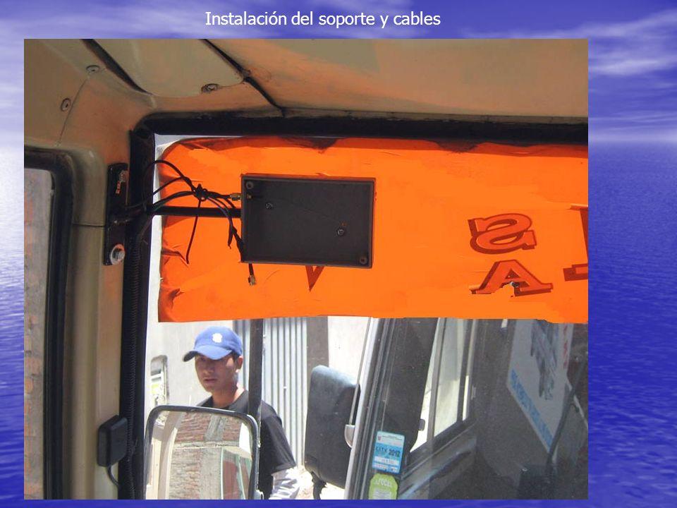 Instalación del soporte y cables