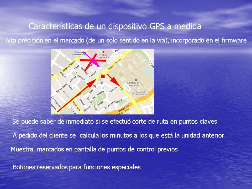 Características de un dispositivo GPS a medida