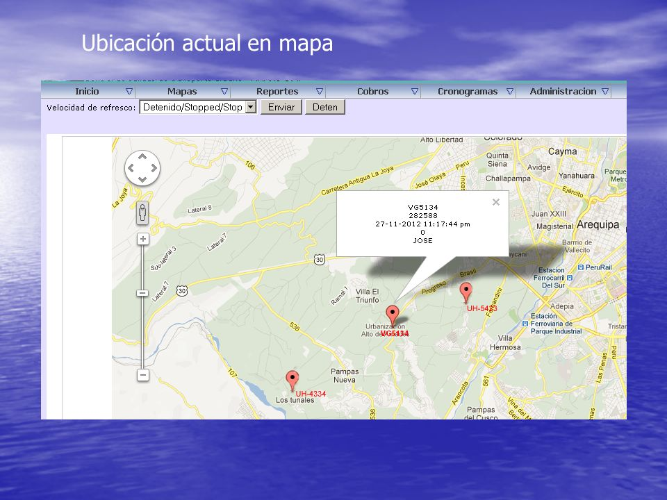 Ubicación actual en mapa