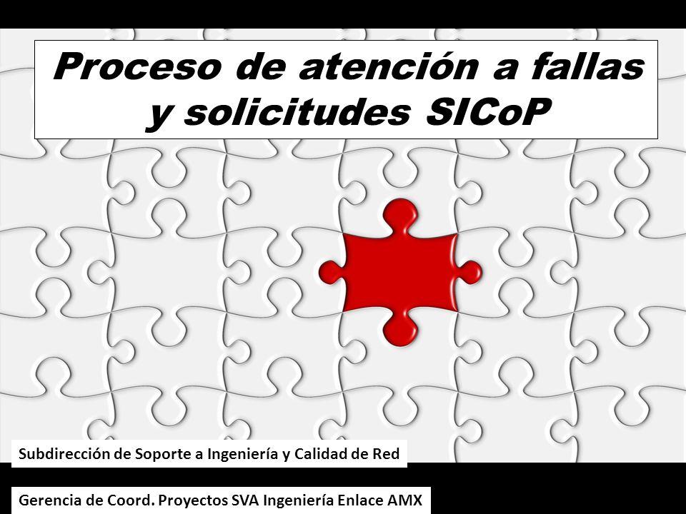 Proceso de atención a fallas y solicitudes SICoP